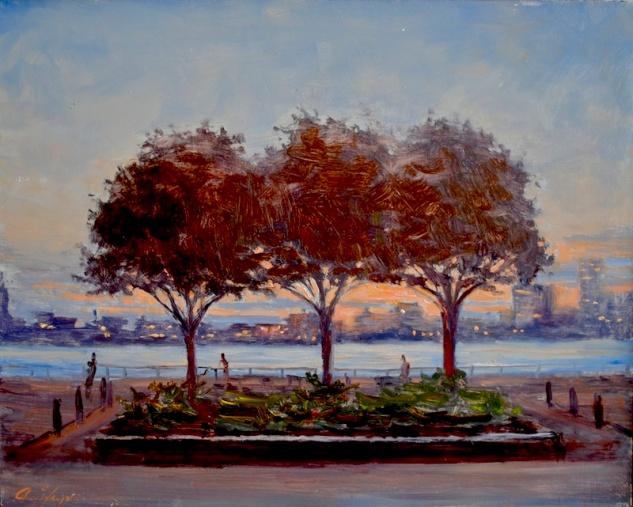 Three Trees At Dusk medium file