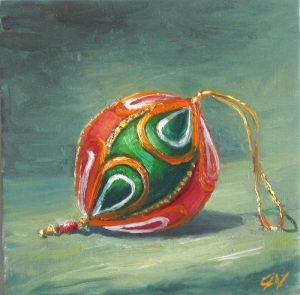 Christmas Ornament, 8 x 8, oil on board (2011)