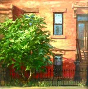 Brooklyn Fig, 18 x 18, oil on canvas