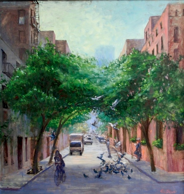 e.Morning Street Scene,