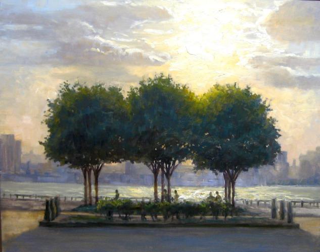 Three Trees, 22 x 28, oil on canvas