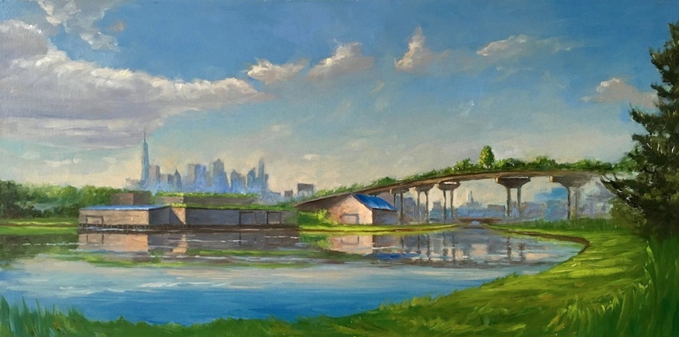 Urbanscape III, 18 x 36, oil on canvas (low res)
