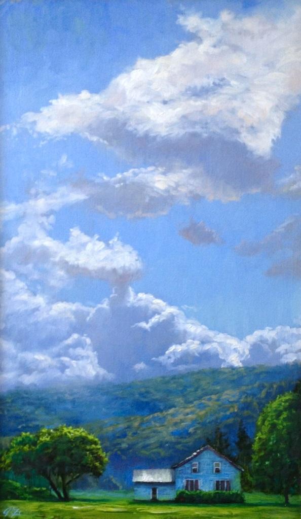 Cloudscape, 16 x 26, oil on canvas
